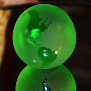 Green Globe Paperweight