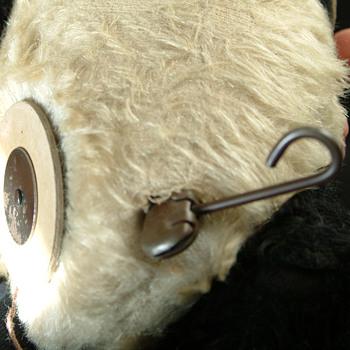 Antique Teddy bear w/tool to turn head