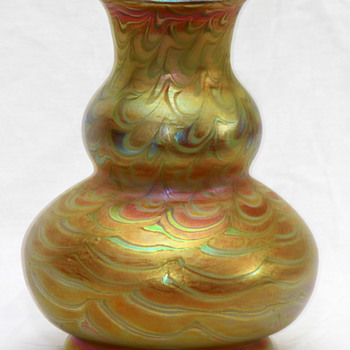 Early Tiffany Favrile Iridescent Decorated Vase c1900