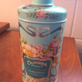 Avon 91st Anniversary Perfume Talc Tin - Advertising
