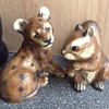 Animal plaster-ware figures.