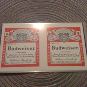 Budweser beer can blank
