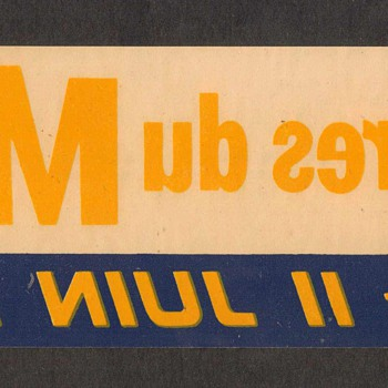 1961 - 24 Hours of Le Mans Race Decal - Advertising