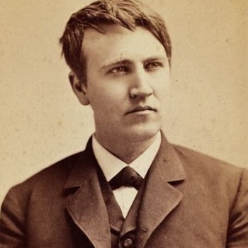 Early Thomas Edison Cabinet Card photograph - Photographs