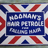 Noonan's Hair Petrole Porcelain Flange sign...1920's