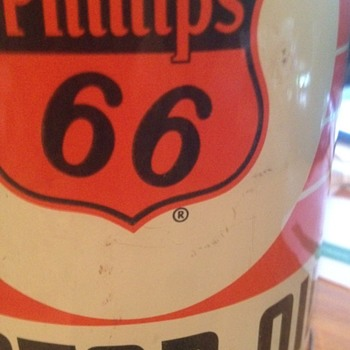 Vintage Orange Phillips 66 Oil Can