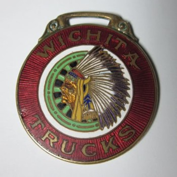 Wichita Falls Motor Co Witcita Trucks Enamel Watch Fob
