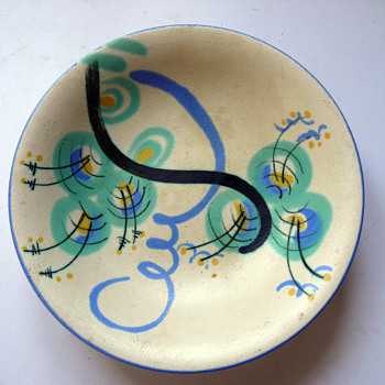 HAËL - Heymann & Loebenstein footed bowl - Art Pottery