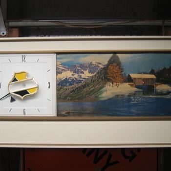 Falstaff scrolling clock - Breweriana