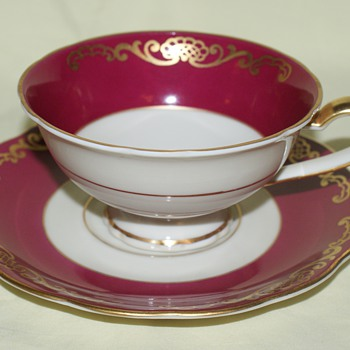 Cup and Saucer - Royal Bayreuth, Germany, US Zone