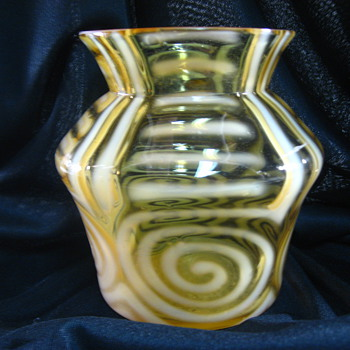 Harrach Opalescent Vase - Art Glass