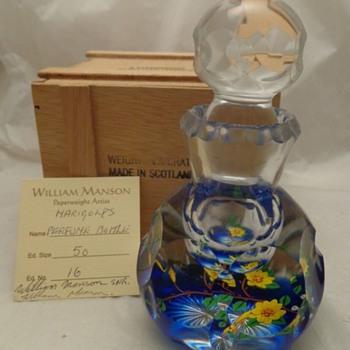 William Manson SNR Marigolds Perfume Bottle #16/50 - Art Glass