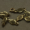 Gold colored filigree bracelet