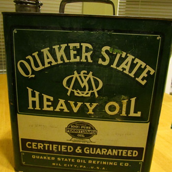 Quaker State Gallon Can