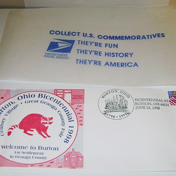 Commerative Samped Envelope of Burton Ohio - Stamps