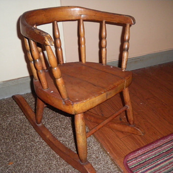 OLD SMALL CHILDS ROCKER  - Furniture