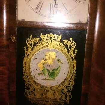 My beautiful og clock.(whitney Jocelyn annin painting)