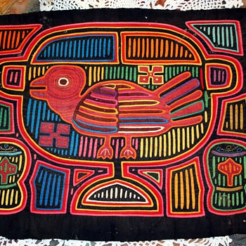 Part of my collection of Molas - made by the Kuna Indians of Panama