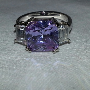 AMETHYST GEMSTONE 925 FAS STERLING SILVER RING - Fine Jewelry