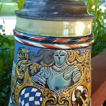 Great Grandfather's MET LACH 1890 Beer Stein - Breweriana
