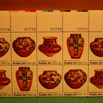 1977 Pueblo Art 13¢ Stamps