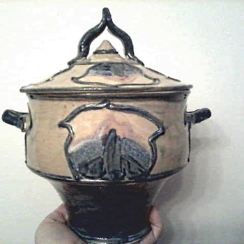 "Studio Art Pottery 8"" Covered Tureen/ Signed Unknown Maker/ Unknown Date - Art Pottery"