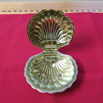 Silver &amp; glass lined dish - Sterling Silver