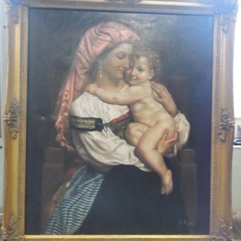 La Romana by C. (Carlo) Rossini - Visual Art