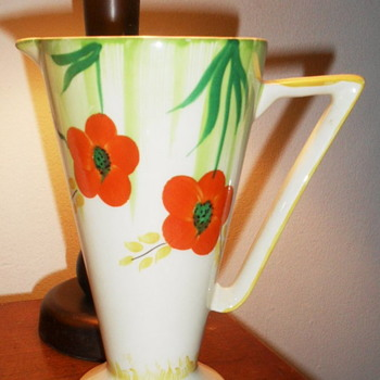 "Art Deco Pitcher 7""  Poppy design"