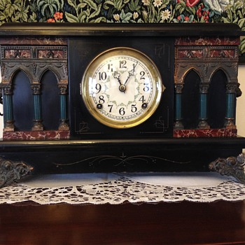 Sessions Black Mantel Clock - Clocks