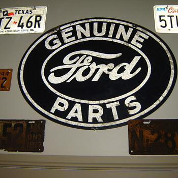 Original Ford Dealer Sign