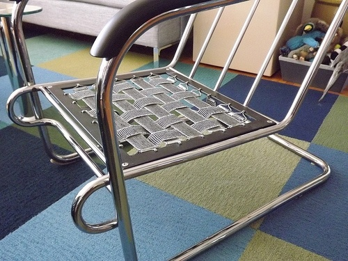 Black Leather Amp Chrome Cantilever Chair No Tags Labels