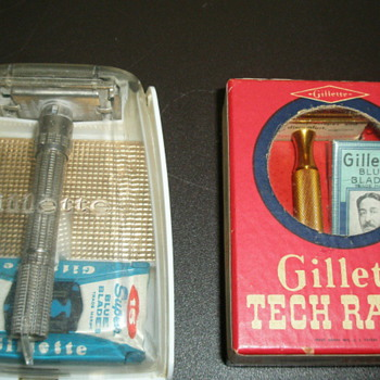 Gillette adjustable slim Safety Razor and Gillette Gold