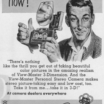 1953 - View Master Stereo Camera Advertisements