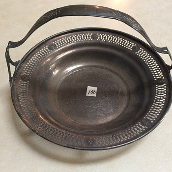 1920s Sterling Silver Basket