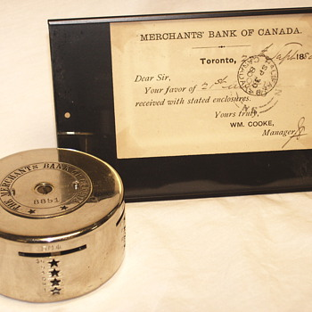 "Advertizing Steel Bank""The Merchant Bank Of Canada+Post Card""Late XIX Century"""