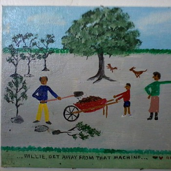 "New Orleans ""Primitive""Paintings(2)by William Reinhart, ""Red Dog Series""of 12 - Folk Art"