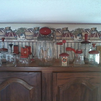 Some of my red kitchen collectibles