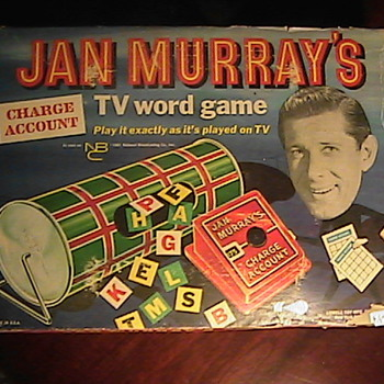 Charge Account Jan Murray's TV Word Game (1956) Lowell Toy Mfg.