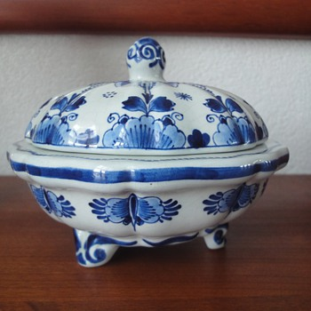 Delft's Blue Porcelain Chocolates Candy