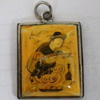 Japanese hand painted pendant