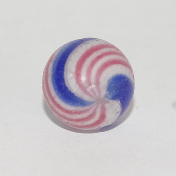 Three vintage peppermint swirls