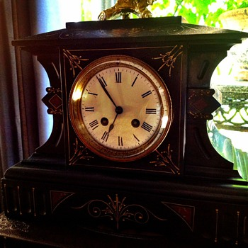 Antique French Mantle Clock - Clocks
