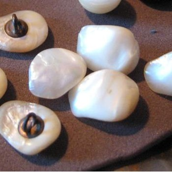 7 mother of pearl buttons