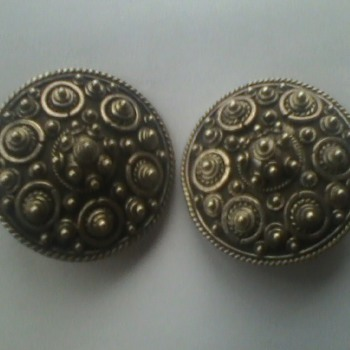 John Hardy Vintage Hand Signed Earrings circa 70's