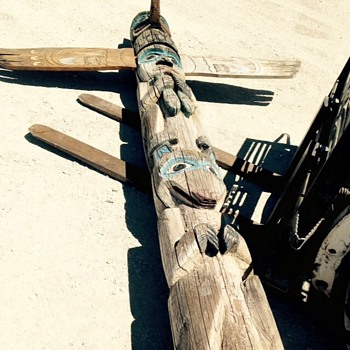 Awesome Totem Pole barn find - Native American