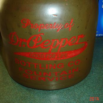Dr Pepper Stoneware Jug