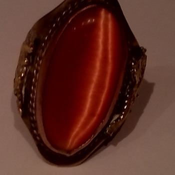 Gorgeous Chinese Ring...but I am not sure of hall mark and if dragons are gold