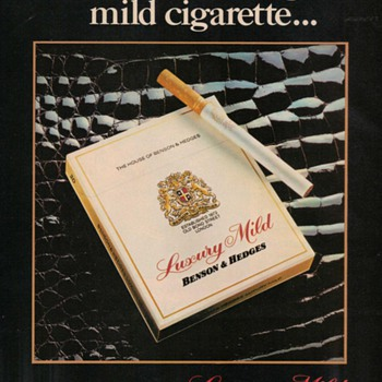 1978 - Benson & Hedges Cigarette Advertisement