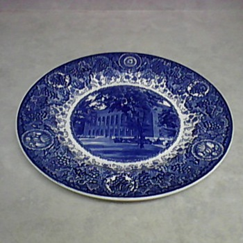 WEDGWOOD UNIVERSITY MICHIGAN LIBRARY PLATE